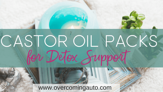Castor oil packs support healthy liver detox which can improve thyroid function and adrenal health.